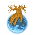 hand as tree vector image vector image