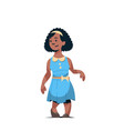 happy smiling girl standing pose little african vector image