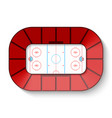 hockey arena top view vector image vector image
