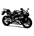 Honda racing bike vector image vector image