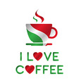 I love coffee A cup of coffee vector image vector image