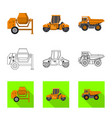 isolated object of build and construction icon vector image
