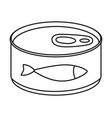 line art black and white canned fish vector image