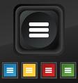 List menu Content view options icon symbol Set of vector image vector image