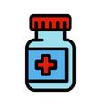 medical capsule jar color simple icon vector image vector image