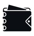 Mens Wallet Icon vector image