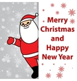 Merry Christmas and Happy New Year greetings card vector image
