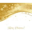 Merry Christmas card with gold snowflakes vector image vector image