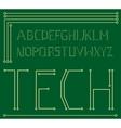 motherboard alphabet vector image