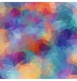 Multicolor background with triangles vector image
