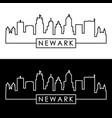 newark city skyline linear style editable file vector image vector image