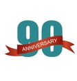 Ninety 90 Years Anniversary Label Sign for your vector image vector image