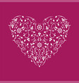 ornamental heart with floral design happy vector image