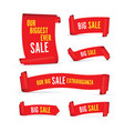 our big sale set of red banners vector image vector image