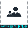 People icon flat vector image vector image