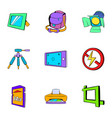 photo icons set cartoon style vector image