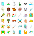 pirate icons set cartoon style vector image vector image