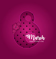 poster international happy womens day 8 march vector image
