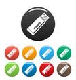 propolis pills icons set color vector image
