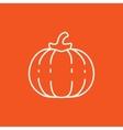Pumpkin line icon vector image vector image
