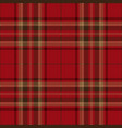 red and brown tartan plaid seamless pattern vector image vector image