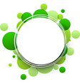 Round green background vector image vector image