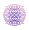 round violet gradient mandala isolated on white vector image vector image