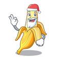 santa tasty fresh banana mascot cartoon style vector image