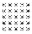 set black smileys vector image vector image