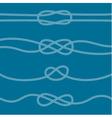 Set of marine knots vector image vector image