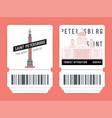 set saint-petersburg tickets vector image