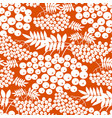 simple one-color rowanberry seamless pattern vector image vector image