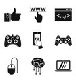 skilled specialist icons set simple style vector image vector image