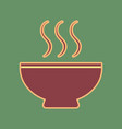 soup sign cordovan icon and mellow vector image