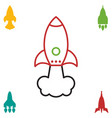 space rocket icon or startup symbol vector image vector image