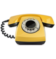 Telephone yellow vintage isolated vector image