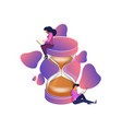 time management flat isometric vector image vector image
