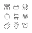 Trade sale set icons vector image vector image