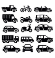 transportation icon set vector image
