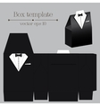 tuxado box template Black color vector image