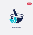 two color mortar bowl icon from beauty concept