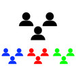 user group icon style is flat iconic bicolor vector image