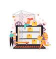 warehouse management software concept vector image