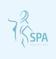 women fitness logo icon sports health spa yoga vector image vector image
