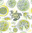 beautiful hand-draw simpless pattern italian food vector image
