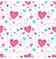 cute seamless pattern with hearts vector image