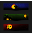 Set of Colorful Halloween Banner vector image