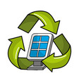 solar energy eco icon vector image