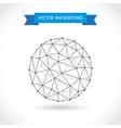 Molecular sphere vector image