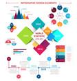 flat infographics design elements template vector image